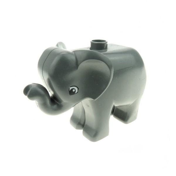 1x Lego Duplo Tier Baby Elefant neu-dunkel grau Zoo 9214 4283133 elephc01pb02