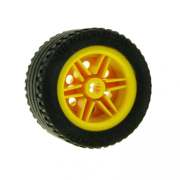 1 x Technic Rad gelb schwarz 30.4mm D.x20mm Reifen Racing Auto Fahrzeug Technik 43.2x22 ZR Felge 44309 56145c01