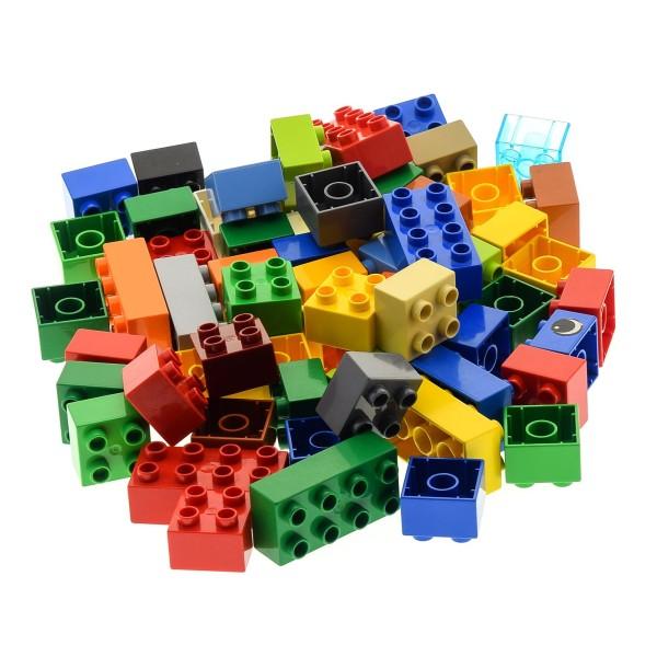 60 x LEGO DUPLO BASIC BAU STEINE 10 Stk. 2x4 Noppen kg 3011 31459 und 50 Stk. 2x2 3437 Kiloware bunt gemischt BAUSTEINE