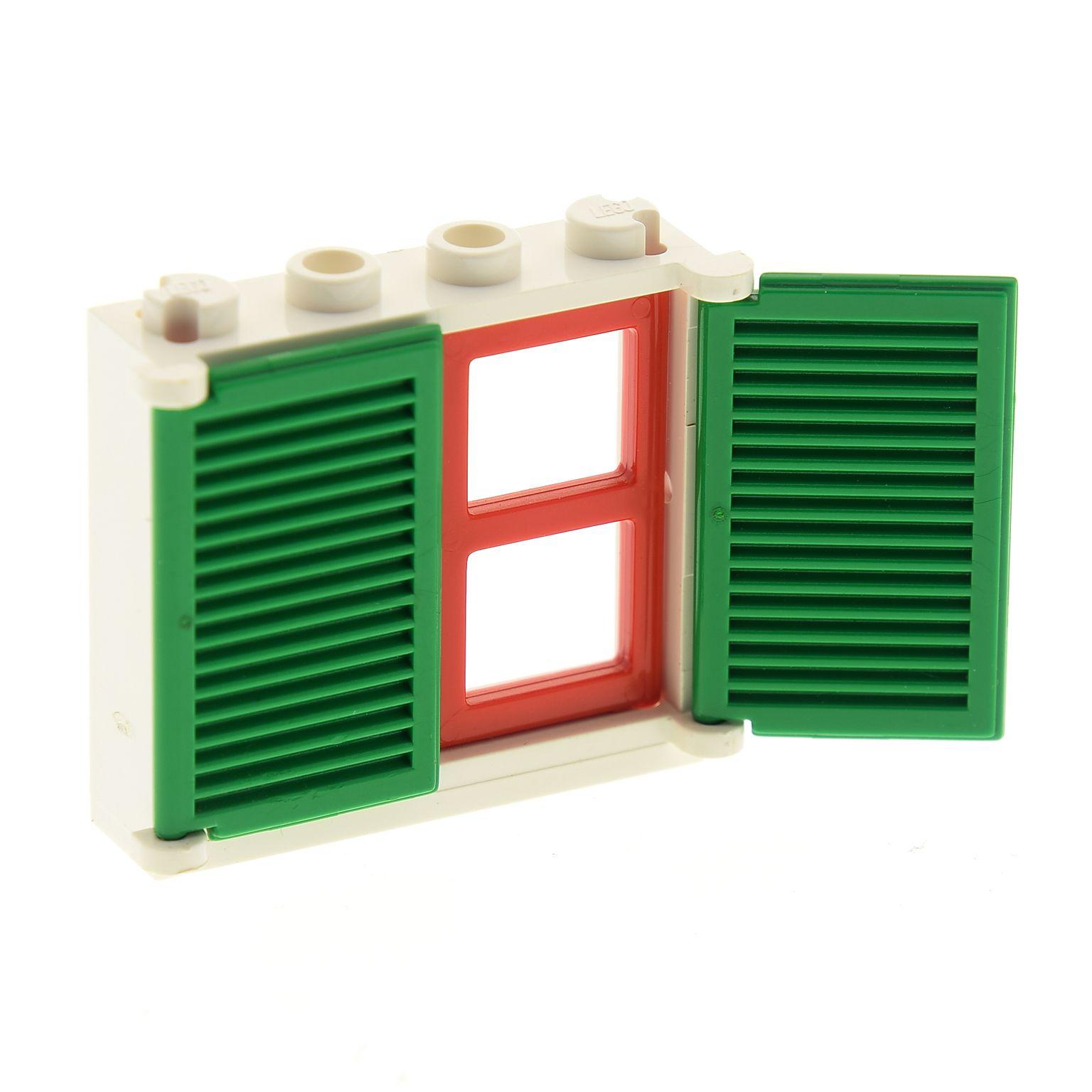 Lego Rahmen Fenster 4033 blau 1x4x3 Scheibe 3855 rot transparent für 6886 6986 .