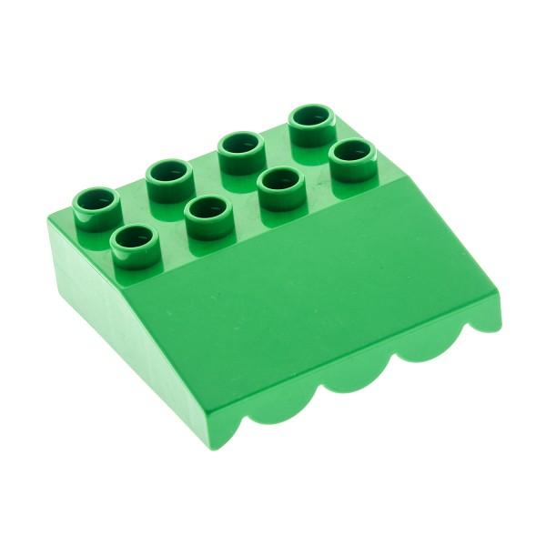 1 x Lego Duplo Dach Stein schräg 33° 4x4 grün Markise überhängend Puppen Haus Set 2811 3090 3267 4120206 31170