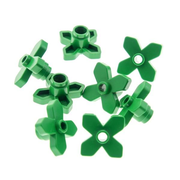 8 x Lego System Pflanze Blätter grün 2x2 Blatt Blume Blumen Blüten 4727