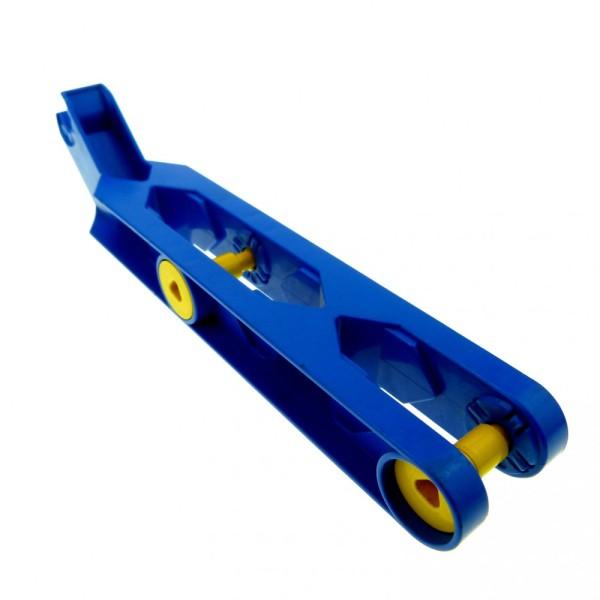 1 x Lego Duplo Toolo Stein blau 2x10 Arm Baustein Verbindung Verbinder Halterung Winkelform 6281c01