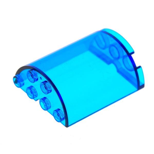 1 x Lego System Zylinder transparent dunkel blau 2x4x4 halb rund Stein Fenster 6969 6982 1737 6218 6259