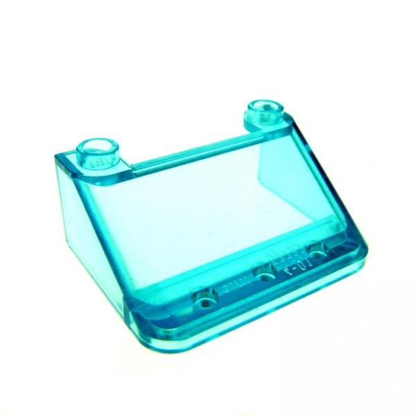 1 x Lego System Windschutzscheibe transparent hell blau 3 x 4 x 1 1/3 windscreen Kanzel Cockpit Auto Fenster 57783