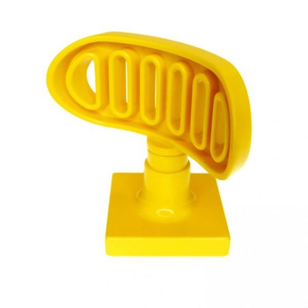 1 x Lego Duplo Antenne Radar gelb 2 x 2 drehbar Stand Fuss Base gelb Flughafen Polizei Schiff Boot Feuerwehr 9163 4376c01