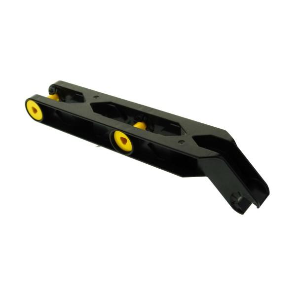 1 x Lego Duplo Toolo Stein schwarz 2x10 Arm Baustein Verbindung Verbinder Halterung Winkelform 6281c01