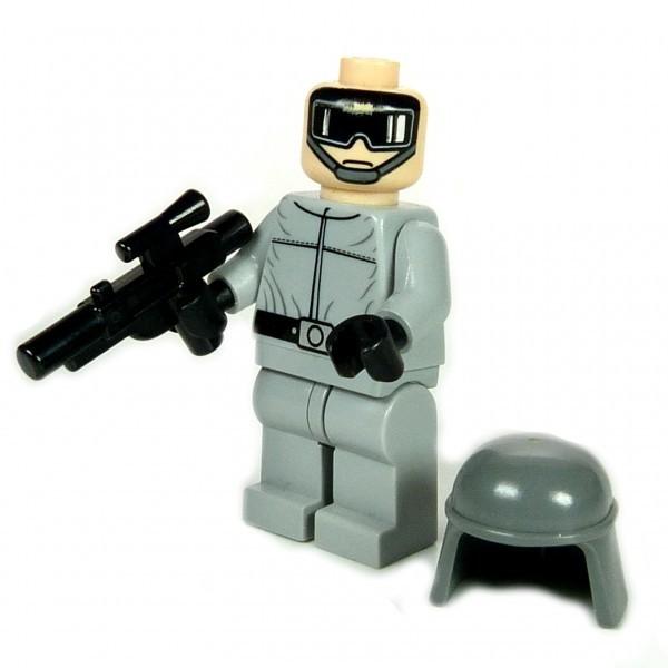 000 Lego Star Wars Figur AT-ST Imperialer Pilot mit Waffe Set 7657 Kampfläufer F07