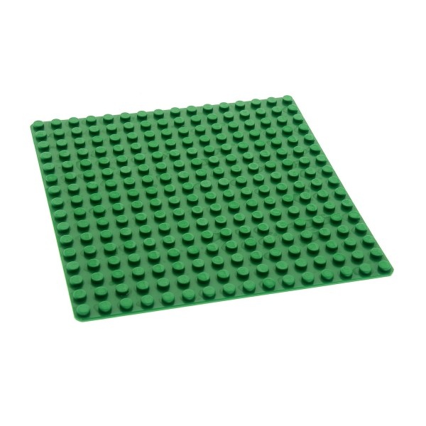 1x Lego Bau Platte grün 16x16 flach Grundplatte Gras Wiese 4217115 6098 3867