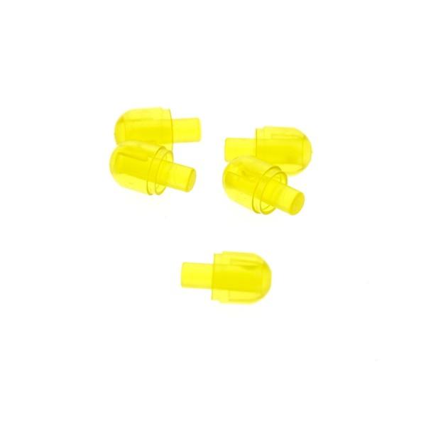 5 x Lego Bionicle Licht Stein Kappe transparent gelb mit Stecker Lampen Auge Set 10230 9486 76018 40182 4539499 58176