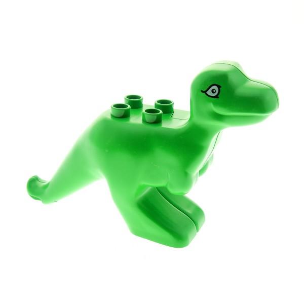 1 x Lego Duplo Tier T - Rex Dino Dinosaurier hell grün Steinzeit Dino Welt Set 9131 3615 31050