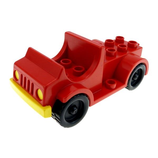 1 x Lego Duplo Fahrzeug Feuerwehr Abschlepp Auto rot Zirkus Wagen PKW Truck für Set 2650 1044 2646 2636 4575 4575