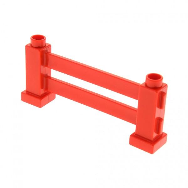 1 x Lego Duplo Zaun rot Zäune Gatter Geländer Absperrung Fence für Bauernhof Piraten 7880 2993 2979 4689 9239 31021