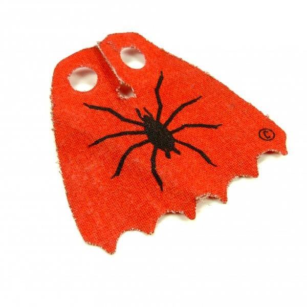 1 x Lego System Umhang Figur rot schwarz Stoff Spinne Aufdruck Cape Hexe Witch 6067 6087 6037 bb190pb02