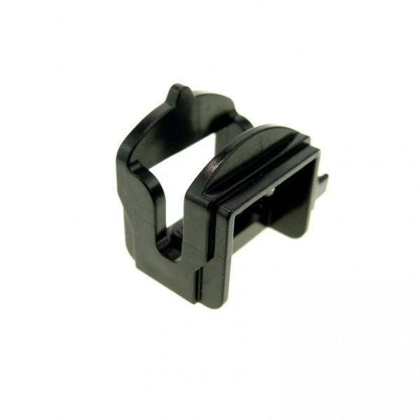1 x Lego System Tier Pferd Sattel schwarz mit 1 Clips Pferdesattel Indianer Western Reiter Hof Castle Ritter 4491a