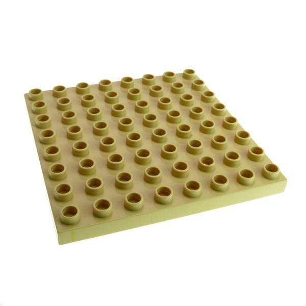 1 x Lego Duplo Bau Basic Platte beige tan 8x8 Noppen Zoo Bob der Baumeister Burg Zug Dino 5635 4864 3772 9213 3597 4255190 51262