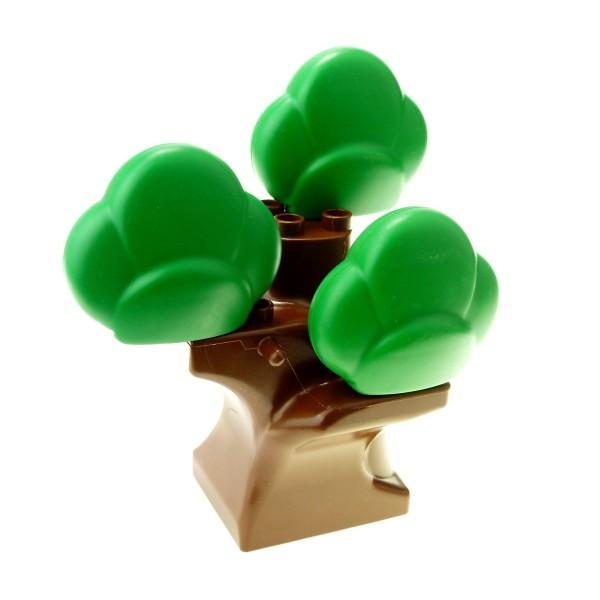 1 x Lego Duplo Pflanze braun großer Baum Stamm mit 3 x Krone Busch grün Strauch Zoo Bahnhof Bauernhof 641125 6411 74587