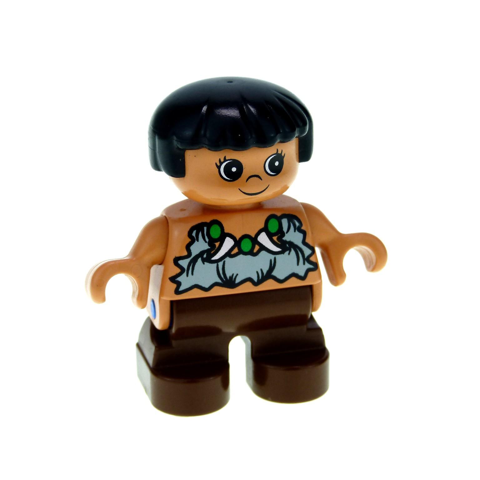 LEGO DUPLO brauner Rucksack zu Dino Welt Steinzeit Figuren kg Kilo 028