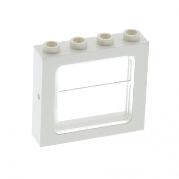 1 x Lego System Fenster Rahmen weiss transparent weiß 1 x 4 x 3 Zug Eisenbahn Haus Waggon Lok train 4034 4033