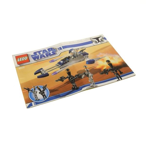 1 x Lego System Bauanleitung A5 für Star Wars Clone Wars Assassin Droids Battle Pack 8015