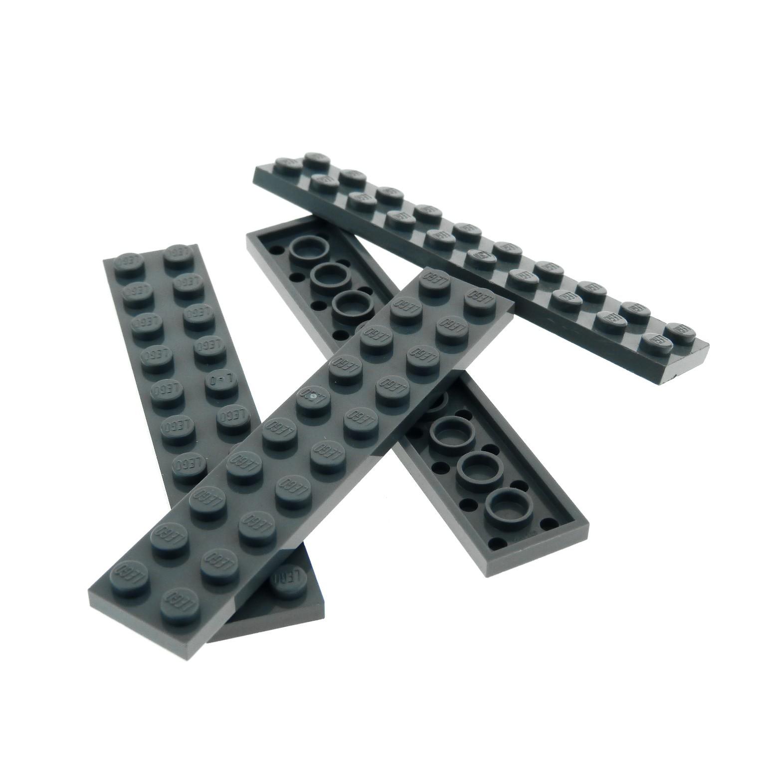 Lego 5 x Platte 3832 neu hellgrau  2x10