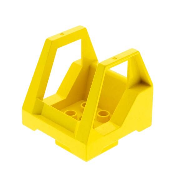 1x Lego Toolo Duplo Kabine gelb Kanzel Cockpit Stein Fahrzeug Aufsatz 6293