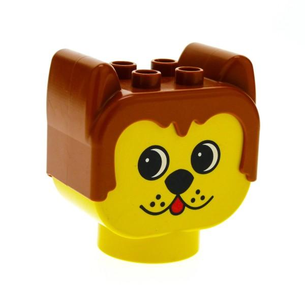 1 x Lego Duplo Primo Tier Kopf hell braun gelb Hund Figur Baby Motiv Stein Baustein dupdoghead
