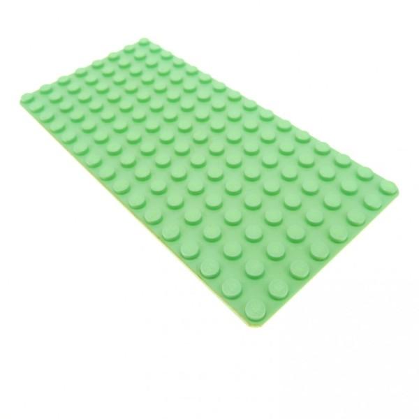 1 x Lego System Bau Platte 8 x 16 light Green hell grün mint grün 8x16 flach 16 x 8 Wiese Rasen 3865