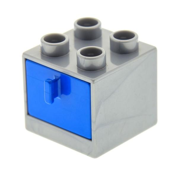 1 X Lego Duplo Möbel Schrank Perl-silber Grau 2x2x1.5