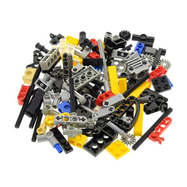 100 Lego Technic Teile 80 g z.B. Pin Stecker Gewinde Kreuz Stange Achse Kreuzloch Verbinder Liftarm Zahnrad Räder kg Technik Steine zufällig gemischt
