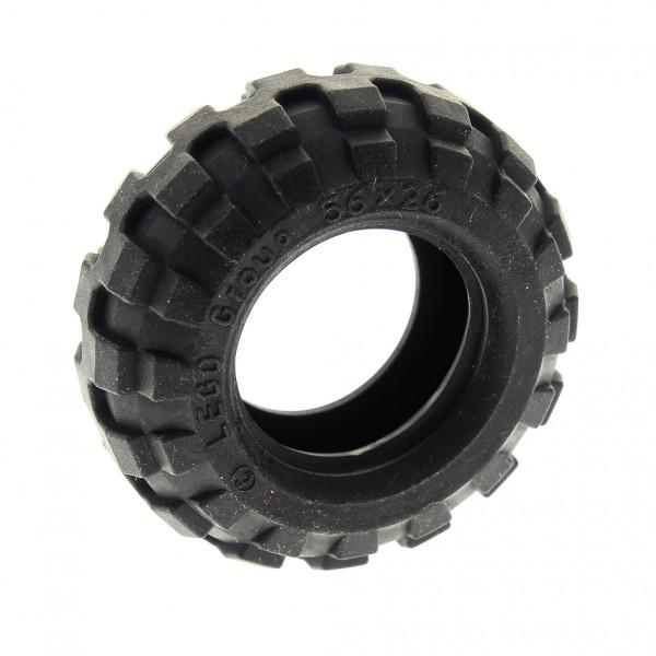 1 x Lego Technic Auto Fahrzeug Rad Reifen solo schwarz 56x26 Ballon Tire Balloon Technik 4297209 55976