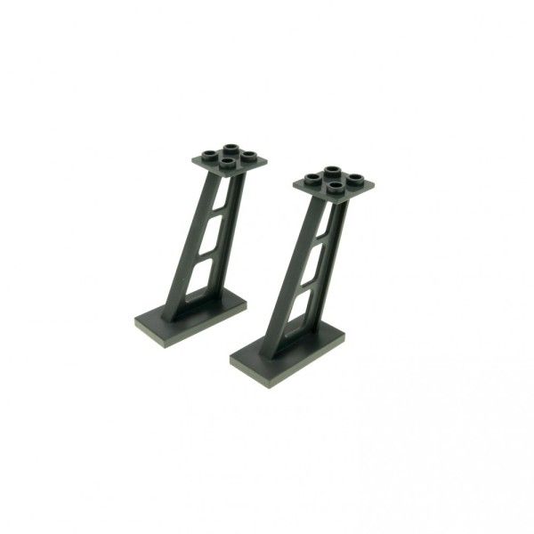 2 x Lego System Stütze neu-dunkel grau 2x4x5 Säule 5mm Pfeiler Träger Leitwerk 4210707 4476b
