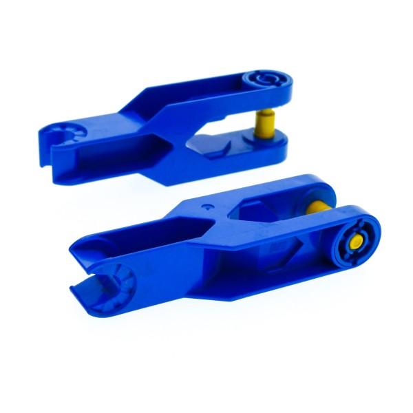 2 x Lego Duplo Toolo Stein Arm Baustein Verbindung Verbinder blau 2 x 6 kurz 6275c01