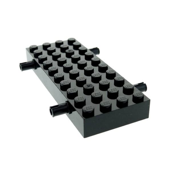1 x Lego System Fahrgestell Platte schwarz 4x10 mit 4 Pins LKW Fahrzeug Grund Gestell Unterbau Chassis 4144352 30076