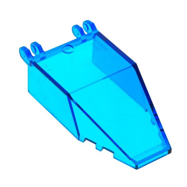 1 x Lego System Cockpit transparent dunkel blau 7x4x1 2/3 Windschutzscheibe Alpha Team Kanzel Kuppel Fenster Set 6774 30372