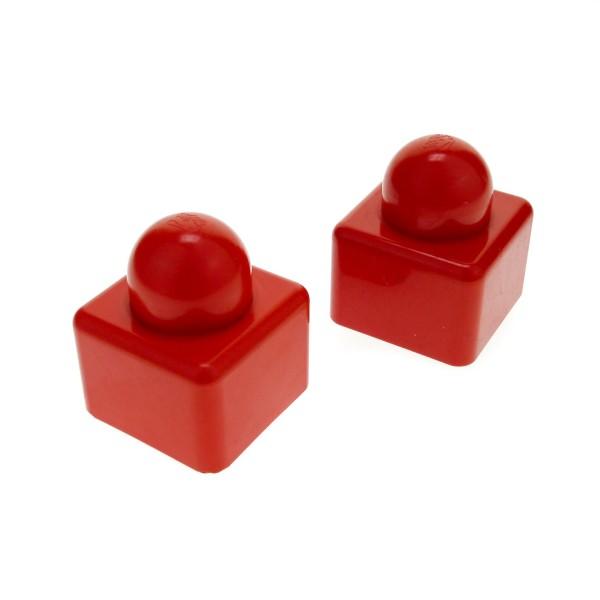 2 x Lego Duplo Primo Bau Stein uni rot 1 große Noppe oben Baby Spielzeug 1x1 für Set 9003 9009 31000