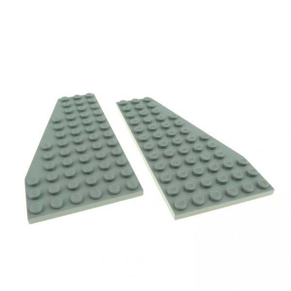 2 x Lego System Flügel Platte neu-hell grau 6 x 12 rechts links 1 Flügel Paar Platten Mond Space 30356 30355