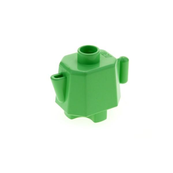 1x Lego Duplo Geschirr Kanne hell grün klein Kaffee Tee Küche 4904