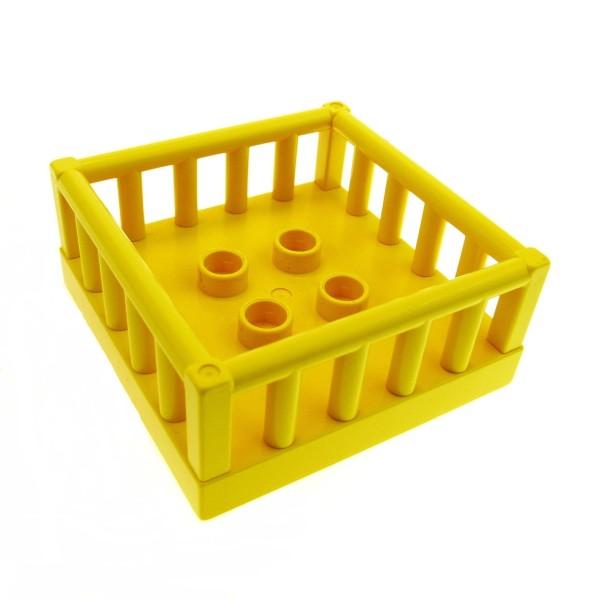1 x Lego Duplo Möbel Krabbel Box gelb 4x4 Laufstall Kiste Gitter Korb Tiergehege Puppenhaus Spielplatz 2252