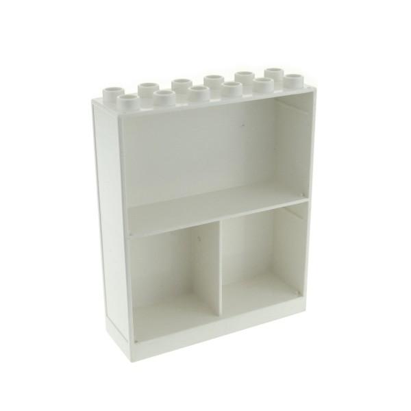 1 x Lego Duplo Möbel Schrank Regal Wand weiss 2x6x6 mit 3 Fächern Hauswand Zimmer Puppenhaus 4255558 6461