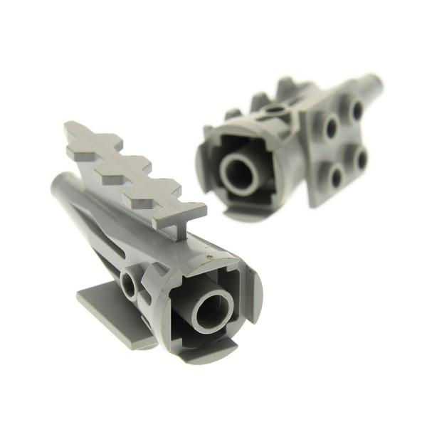 2 x Lego System Triebwerk alt-hell grau 2 x 2 Turbine Düse Rakete Engine 6931 1526 6872 4746