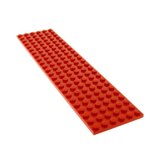 1 x Lego System Bau Grund Basic Platte rot 24x6 Noppen Train Eisenbahn für Set 340 218 377 730 1548 383 6395 3026