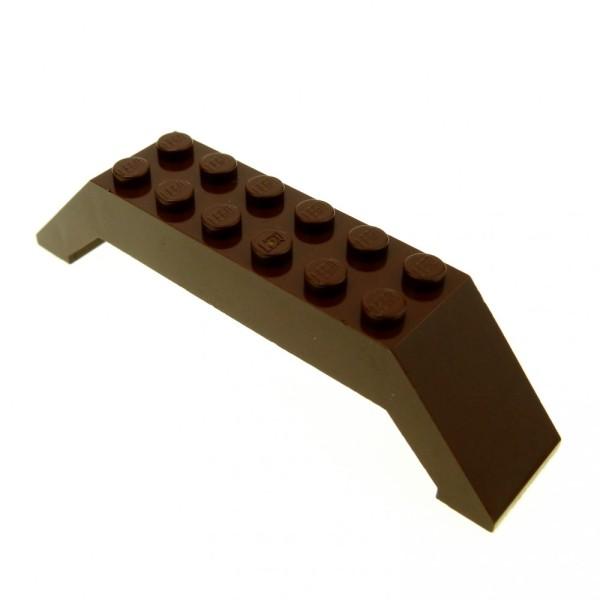 1 x Lego System Bogenstein braun 45° 10x2x2 doppel schräg Stein Dach Brücke Star Wars 30180