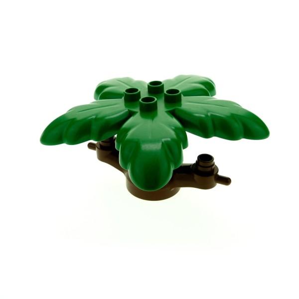 1 x Lego Duplo Baum braun grün Blatt Pflanze Stamm Ast Palme Krone 4100842 2288 31059