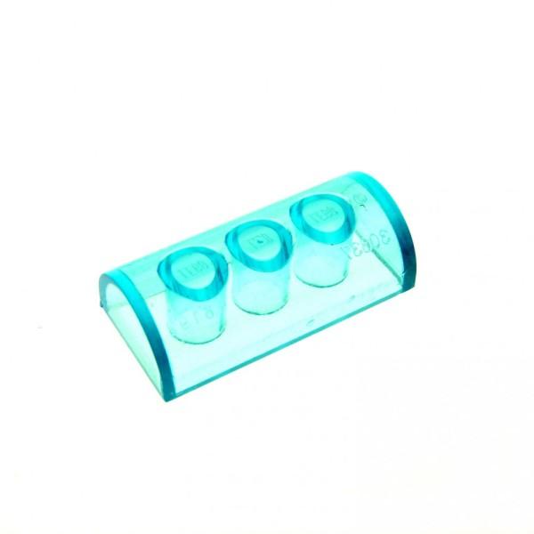 1 x Lego System Dachstein transparent hell blau 2x4 schräg rund Stein Dachziegel 6192
