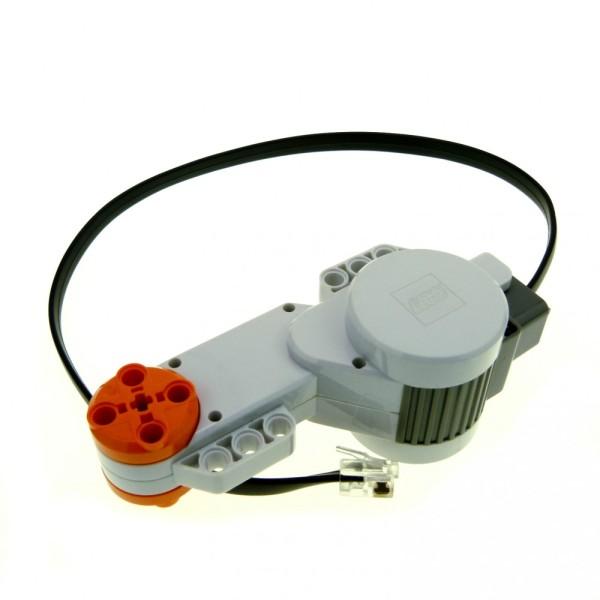 1 x Lego Technic Electric Mindstorms NXT Motor hell grau 35 cm mit schwarz Kabel geprüft 55805 53787