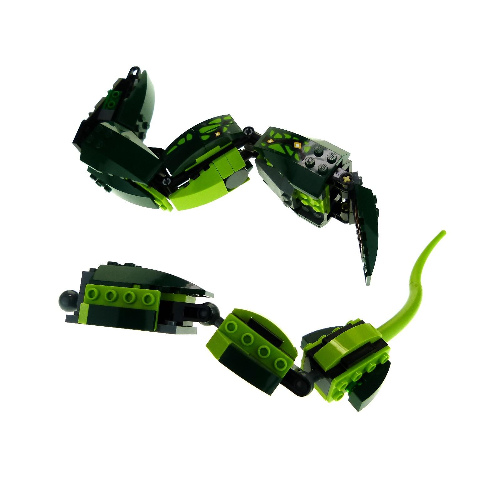 1 x lego system tier schlange grün für set modell ninjago