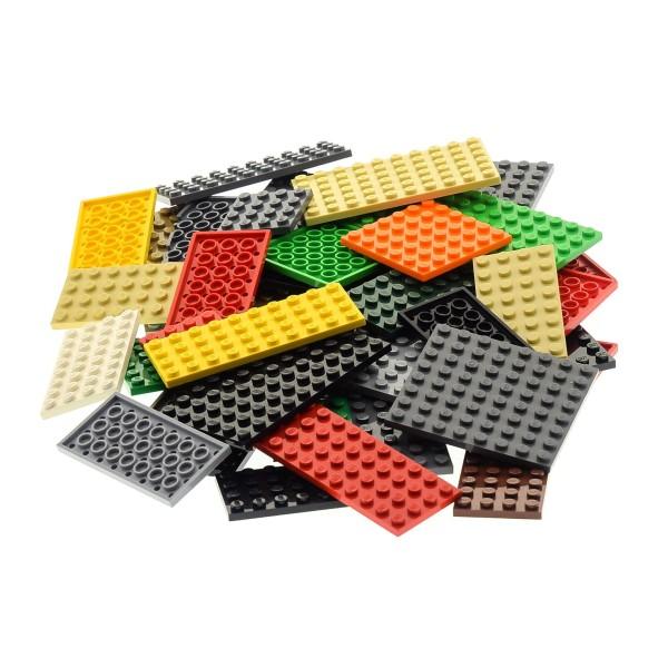 50 x Lego System City Platten Platte Grösse Farbe zufällig bunt gemischt Bauplatte Grundplatten