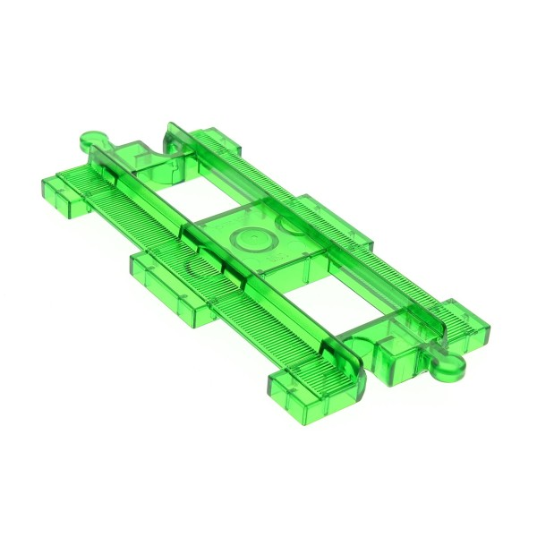 1 x Lego Duplo Schiene transparent grün gerade Eisenbahn Zug Intelli Lok Schienen Bahnhof Set 3085 4142811 31463