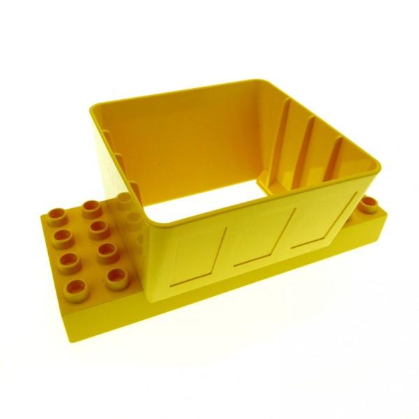 1 x Lego Duplo Kugelbahn Trichter 2x4 gelb für Baustelle Schütte Eisenbahn Verladestation Bauernhof Loading Chute 9134 9173 3618 3102524 31025